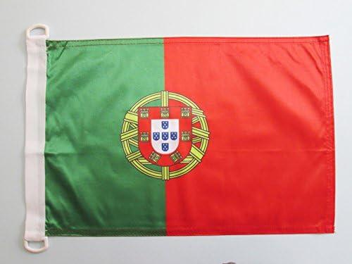 AZ FLAG Bandera Nautica de Portugal 45x30cm - Pabellón de conveniencia Portuguesa 30 x 45 cm Anillos: Amazon.es: Hogar