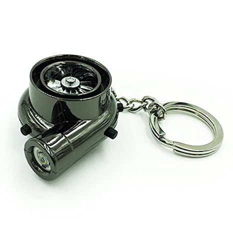 Boostnatics Electric Turbo Lighter Keychain with Sounds - Version 2 - Black
