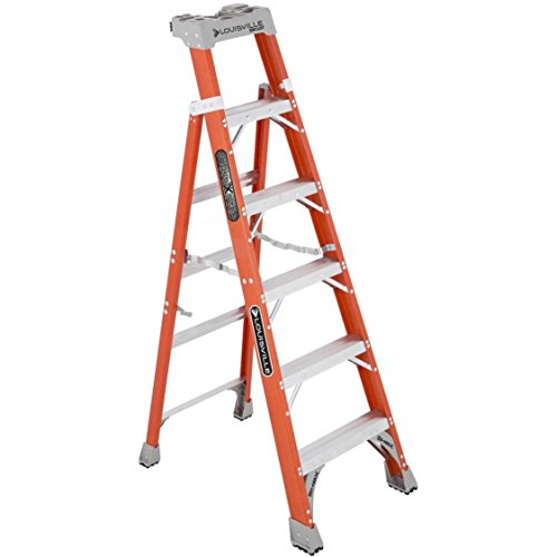 Fiberglass Heavy Duty Slip Resistant Rubber Tread Ladder by Louisville Ladder (Image #9)