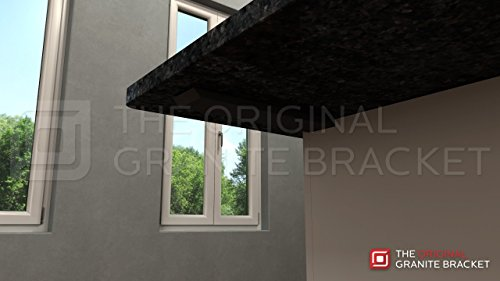 Countertop Support Bracket Side Wall Bracket 22'' Right Angle by Wholesale Hidden Granite Brackets (Image #6)
