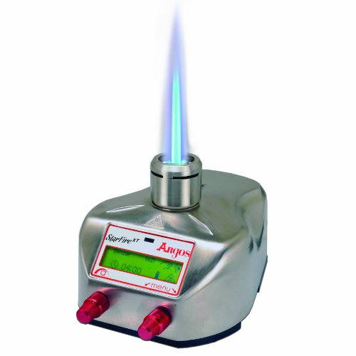 Argos SF000 StarFire XT, Portable Three Mode Safety Bunsen Burner, with Rechargeable 3.6V NiMH Battery Pack, Intuitive Graphical User ()