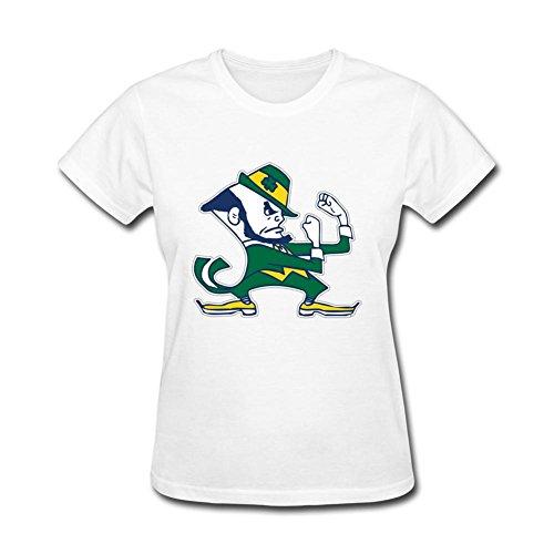 Kittyer Women's Notre Dame Fighting Irish Design Cotton T Shirt S ()
