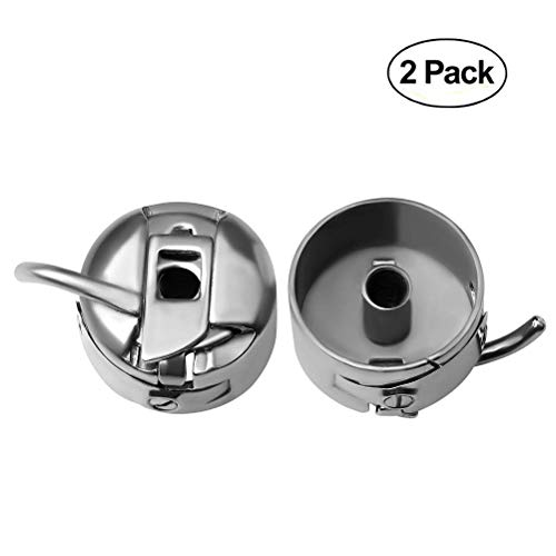(EUBags 2 PCS Sewing Machine Bobbin Case for Front Loading Kenmore Brother, Baby Lock, Singer, Viking)
