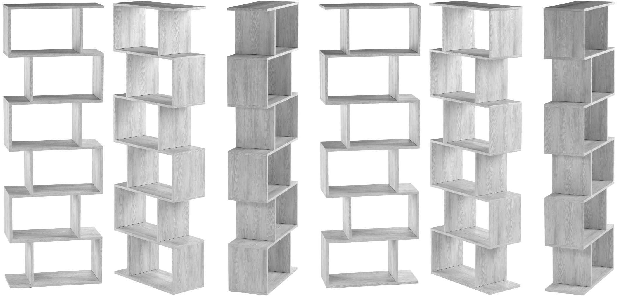 Vicco Separador de ambientes LEVIO Separador de Habitaciones estantería Separador Organizador con estantes estanterías de almacenaje Separador de ...