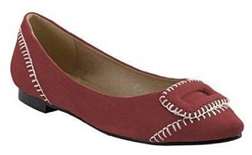 para Sandalette Best de Bailarinas cuero rojo Connections mujer rojo AwqwX