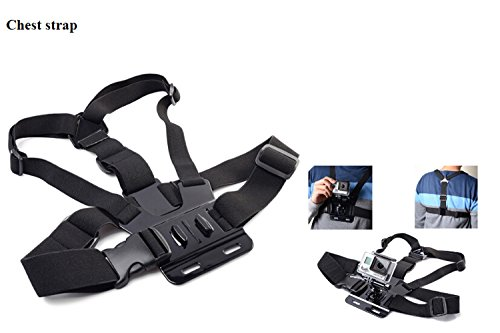 Konsait 32 in 1 Outdoor Sport Gopro Accessories Set Kit for Gopro Hero 2 3 3+ 4 including Large Carry Case Bag + Big size Velvet Pouch + Wrist Strap +Chest Belt Strap + Head Belt Strap Mount + Bike Holder + Extendable Handle Monopod Pole +Suction Cup + Flat Curved Adhesive Mounts + Floating Grip + Camera Tripod + Anti-Fog Inserts