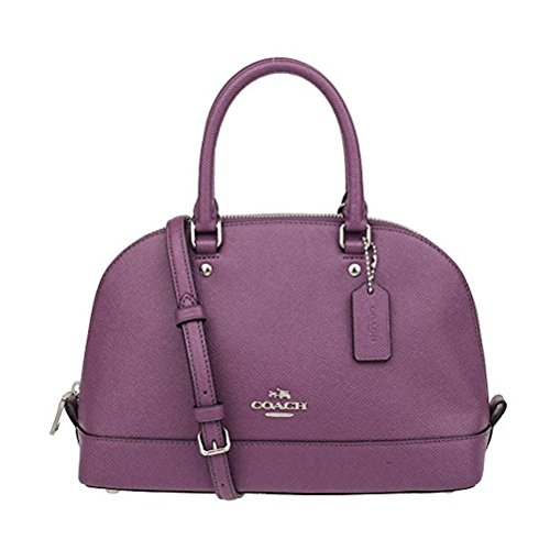 COACH Women's leather Hand shoulder bag F57555 (Deep purple) price tips cheap