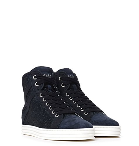 Hogan Rebel Hi Top Sneakers Donna HXW1820I650GAQU810 Camoscio Blu