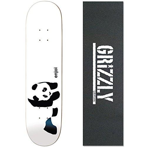 (Enjoi Skateboards WHITEY PANDA Deck Only skateboard GRIZZLY White)