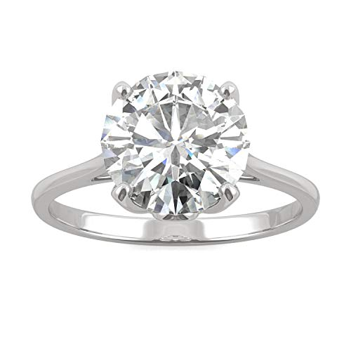 White Gold Forever Brilliant 9mm Round Solitaire Engagement Ring- size 6, 2.70ct DEW by Charles & Colvard