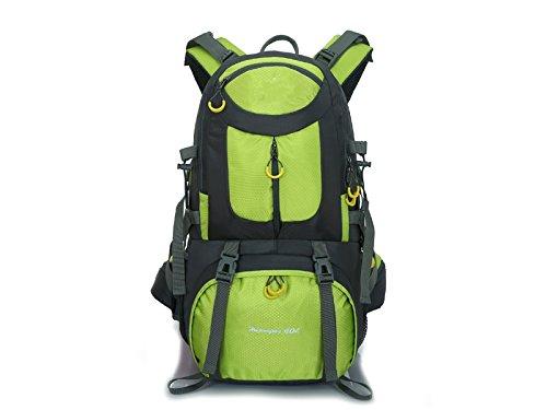 ハイキング50lスポーツアウトドアバックパック登山バッグキャンプハイキングバックパック(グリーン)アウトドア旅行   B07FDX54JP