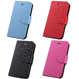 RC - PU Leather Diamond Pattern Full Body Case for Apple iPhone 4 / 4S , Black