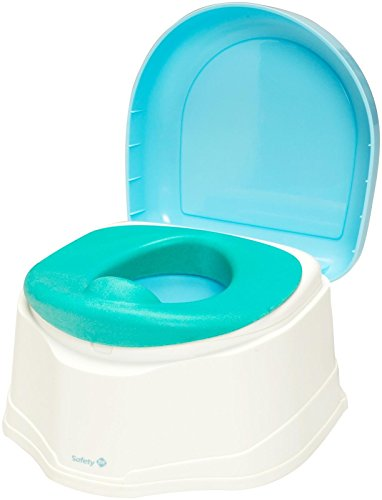 4SGM 32328 Safety 1st Clean Comfort 3-IN1 Potty Trainer, Blue ()