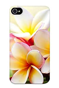 Podiumjiwrp Scratch-free Phone Case For Iphone 4/4s- Retail Packaging - Plumerias