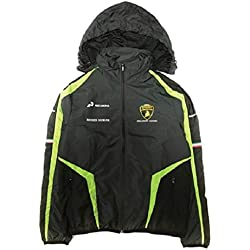 Lamborghini Automobili Squadra Corse Men's Waterproof Jacket Black (M)