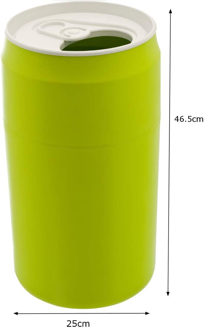 QUALY QL10081G Abfalleimer Capsule Can Kunststoff 26 x 26 x 47 cm anbnehmbarer Deckel, grün