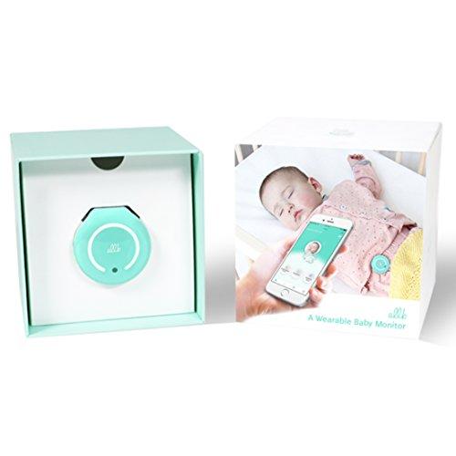 allb Smart Baby Breathing Monitor - Baby Heart Oxygen Sense Movement Sleep Monitor - Infant Motion Skin Temperature Respiration Heart Rate Alarm Monitor - Wearable Sensor (Turquoise)