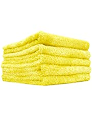 The Rag Company - Eagle Edgeless 350 - Professional Korean 70/30 Blend Super Plush Microfiber Detailing Towels, 350GSM, 16in x 16in, Yellow (5-Pack)