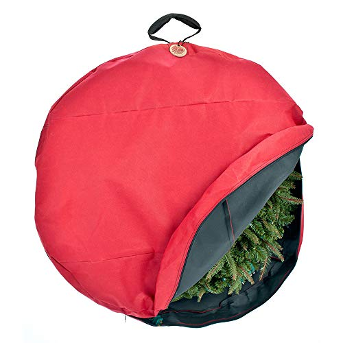 Santa's Bags [30 Inch Wreath Storage Container] - for Christmas Wreath up to 30 Inches in Diameter | Bag Hooks Directly to Your Wire Wreath Frames to Prevent Sagging and Deformed Wreaths (30-Inch)