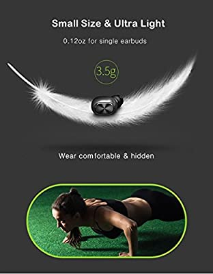True Wireless Earbuds with Charging Case, Ayoki Bluetooth Headphones Stereo Noise Canceling for Sports In Ear Earphones with Microphone - Black