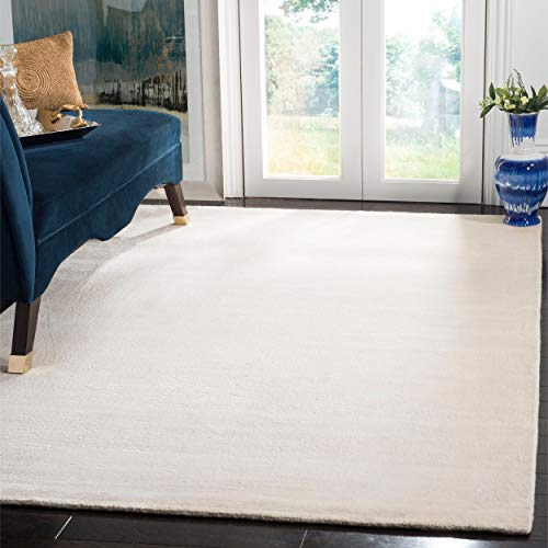 - Safavieh Mirage Collection MIR344W Hand-Knotted White Wool Area Rug (5' x 8')