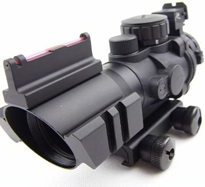 Noga 4x 32mm táctico óptico Cable de color rojo/verde/azul Dot vista alcance de 20mm Rail Gun