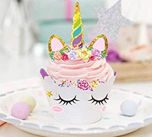 Makadami Unicorn Cake Topper - Unicorn Cake Decorations - Unicorn Cupcake Topper - Unicorn Horn Headband - Unicorn Party… 5