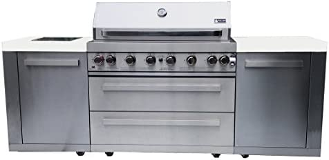 Mont Alpi Mai805 44 Outdoor Barbeque Island 47 00 X 20 00 X 93 00 Inches Stainless Steel