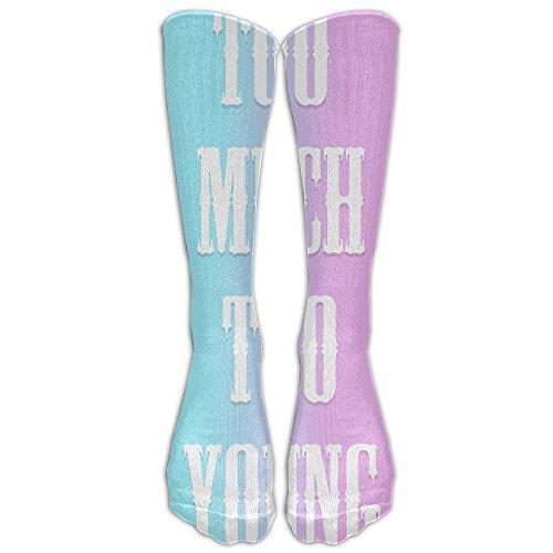 Unisex Knee High Long Socks Too Much Too Young Get Enough School Uniform High Long Stockings ZHONGJIAN from ZHONGJIAN