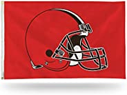 NFL Cleveland Browns 3-Foot by 5-Foot Single Sided Banner Flag with Grommets