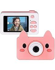 Upgrow Kinder Kamera Niedlich Digital Kamera 2.0 Zoll LCD Display, Cartoon Kinder Kamera mit Niedlich Cartoon Schutzthülle, Kinder Geschenk