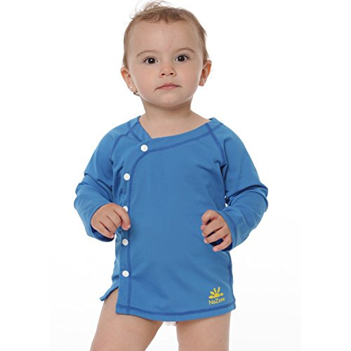 Nozone's Sun Protective UPF 50+ Baby Beach Cover-Up Wrap in Smurf, 0-6 mo.