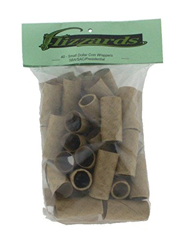 Small Dollar Crimped End (Gunshell) Coin Wrappers, 40 pack