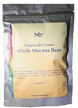 Organic Whole Mucuna Bean by Biopure - Organically Grown 8.15 Ounce