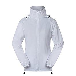Cheering Spmor Women's Lightweight Jackets Waterproof Windbreaker Jacket UV Protect Running Coat