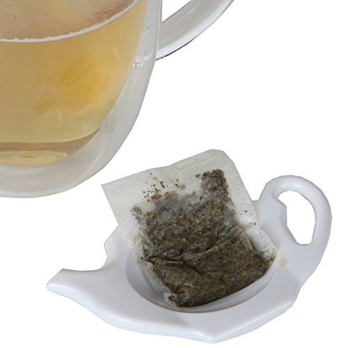 Find Discount Home-X Teapot-Shaped Teabag Holders - Set of 4