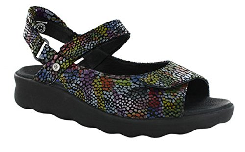 80010 Comfort Color Pichu Wolky Sandals Multi Black 01890 IzqcTAw6