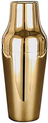 Jarhit Franz?Sischer 650 Ml Cocktail Shaker Aus Edelstahl Klassischer und Eleganter Cocktail Shaker mit Barkeeper Werkzeug Gold