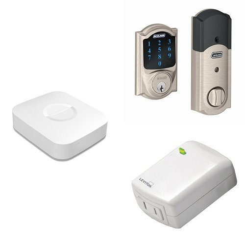 Samsung SmartThings Hub, 2nd Generation, with Schlage Con...