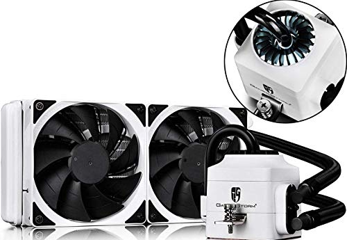 DEEPCOOL Gamer Storm CAPTAIN 240EX WHITE CPU Liquid Cooler AIO Water Cooling Ceramic Bearing Pump Visual Liquid Flow 120mm PWM Fan Support LGA 2011-v3 and AM4 Compatible