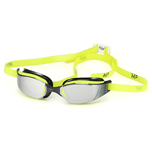 MP Michael Phelps XCEED Swimming Goggles, Mirrored Lens, Yellow/Black Frame by MP Michael Phelps (Image #9)