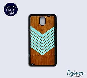 Galaxy Note 2 Case - Teal Arrow on wood Print