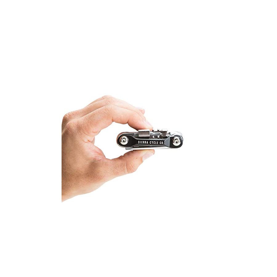 12 In 1 Bike Multitool by Sierra Cycle Co. Durable, Compact, Lightweight, Repair Kit for Road and Mountain Bikes