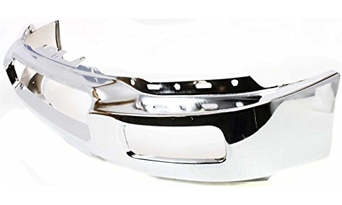 Evan-Fischer EVA17372022643 Bumper for Ford F-150 04-06 Front Bumper Chrome w/ Fog Light Holes To 8-8-05 New Body Style Replaces Partslink# FO1002390
