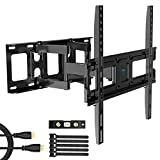 PERLESMITH TV Wall Mount Bracket Full Motion Dual Swivel Articulating Arms Extension Tilt