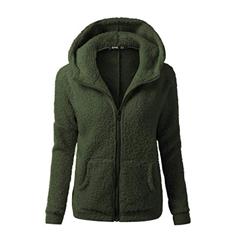 YoungG-3D New Desigh Solid Color Coat Thicken Soft Fleece Warm Jacket Hooded Zipper Overcoat -