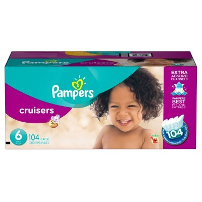 Pampers Cruisers Size 6 Diapers Economy Plus Pack - 104 Coun