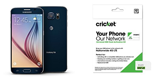 Galaxy S6 Black Sapphire 32gb For Cricket ()