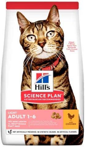 Hills Science Plan - Comida ligera para gatos con pollo, 10 kg: Amazon.es: Hogar