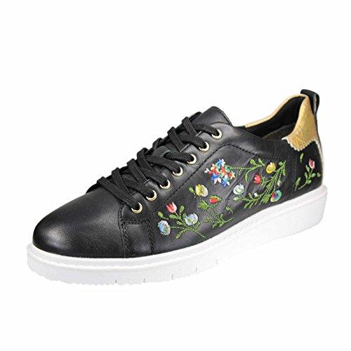 Tamaris 1-1-23716-38/091, Chaussures de ville à lacets pour femme noir noir Noir